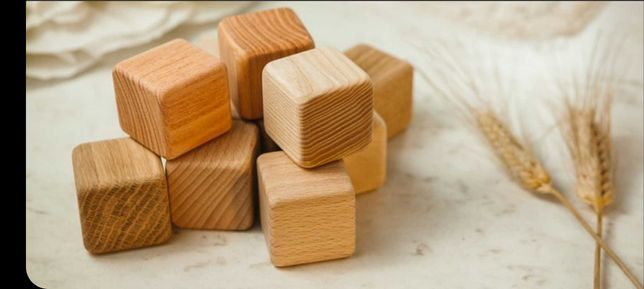 Кубик деревянный. Опт