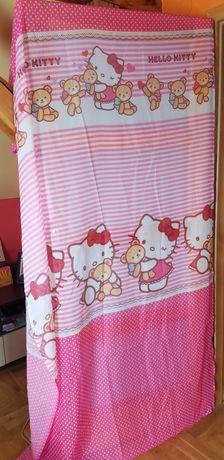 Zasłony zaslonki różowe groszki hello kitty