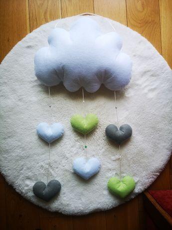 Zawieszka pluszowa chmurka ssrduszka dekoracja do pokoju dziecka nowa