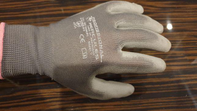 Luva em poliéster revestida na palma a poliuretano