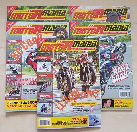 """Miesięcznik """"Motormania"""" 5 numerów z 2012 roku"""