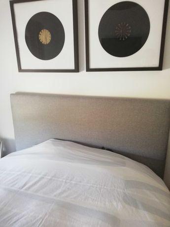 Cabeceira de cama forrada de novo