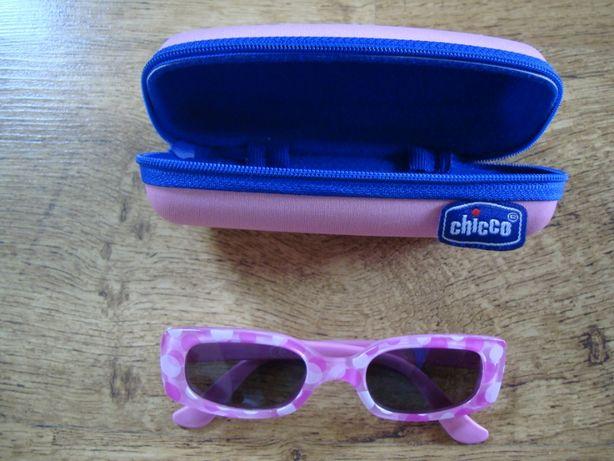 Okulary przeciwsłoneczne chicco dziecięce różowe + etui