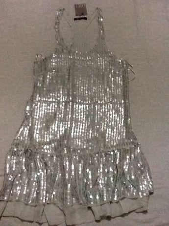 Túnica/ vestido com lantejoulas
