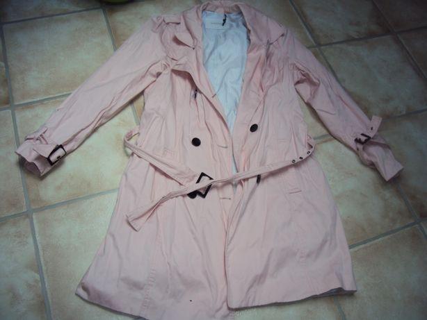 Płaszczyk rózowy pudrowy róż 42/44 xl/xxl Reservd płaszcz kurtka