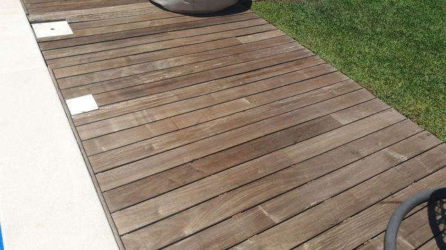 Montagem Deck madeira e composito