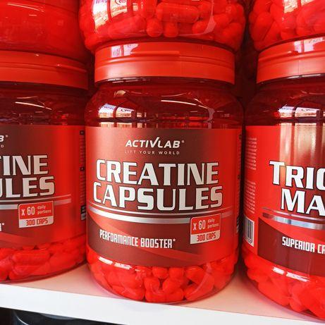 Activlab Creatine 300kaps, Kreatyna Monohydrat, Odżywki i Suplementy