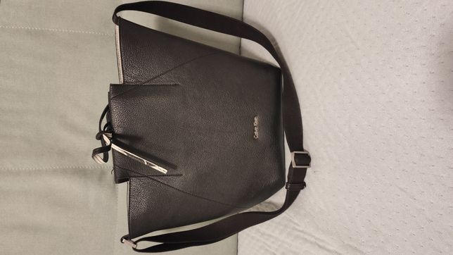 Jak nowa torba torebka Calvin Klein skórzana dwustronna.