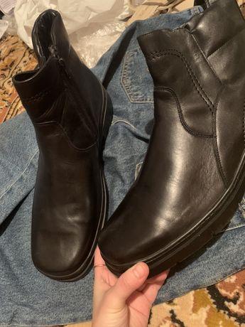 Ботинки зима осень юничел (unichel) натуральная кожа 45 р мужские