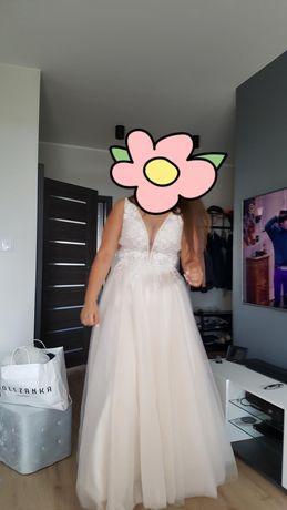 Suknia ślubna sprzedam 42 + welon gratis