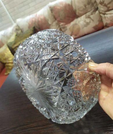 Салатник хрусталь Богемия ЧССР времен СССР 60-е посуда сервиз ваза