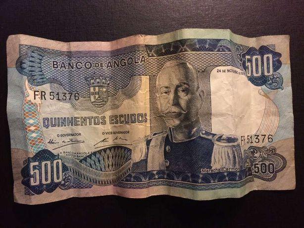 Nota 500 escudos de Angola