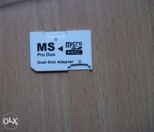 Переходник 2х MicroSD HC (TF) в Sony MemoryStick Pro Duo для PSP