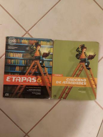 """Livro português """"etapas 6"""" 6 ano (portes incluidos)"""