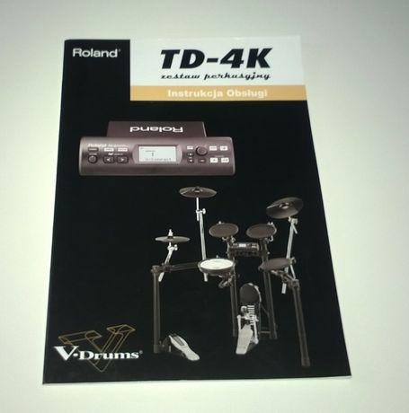 *ROLAND* TD-4 Instrukcja obsługi V-Drums Perkusja elektroniczna