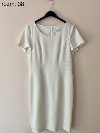 Biała piękna sukienka Bialcon w rozm. 38