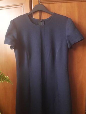 Granatowa sukienka maxi 38