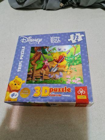 Puzzle Trefl Kubuś Puchatek 3D 2w1