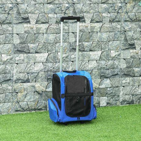 Transportadora para Animais de Estimação 2 em 1 42x25x55cm Azul NOVA