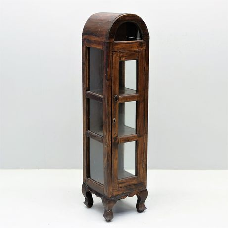 Mała ładna witrynka w stylu kolonialnym Lite drewno słupek na nóżkach