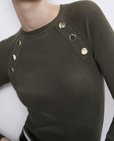 ZARA sweterek bluzka z modnymi guzikamio rozmiar M/L NOWY