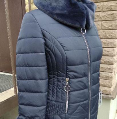 Женская куртка 50 размер зима Пуховик Полу-пальто мех съемный новое