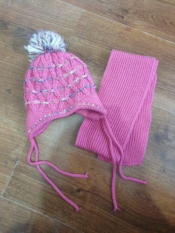 Komplet zimowy 1 - 2,5 latka czapka szalik