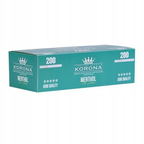 GILZY papierosowe KORONA normal MENTHOL DE LUXE 200 SZT.