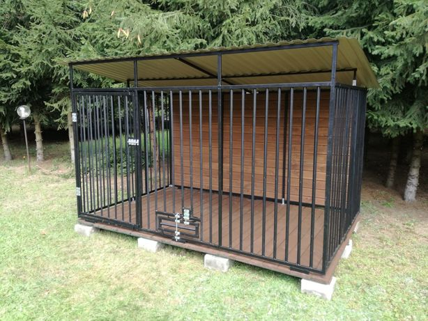 Kojec dla Psa 3x2m Buda Kojce Stalowe Panelowe Zabudowane PRODUCENT
