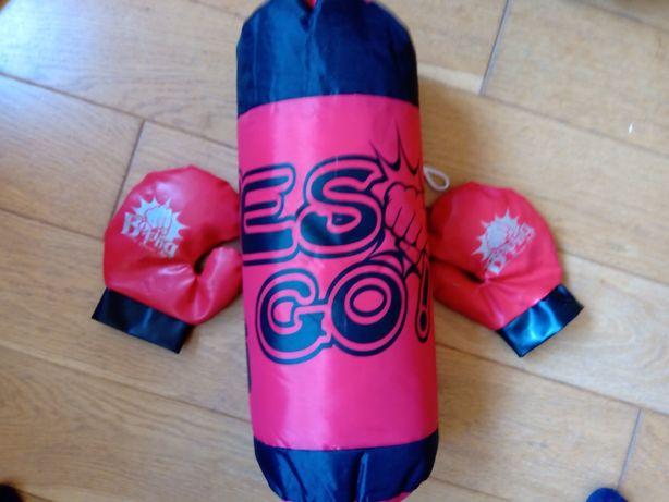 Worek bokserski dla dzieci + rękawice