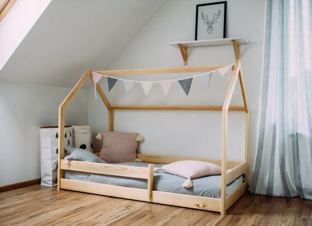 Łóżko domek sosnowe 160x80