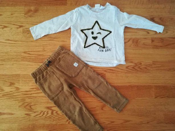Komplet bluzeczka i spodnie Zara rozm 98