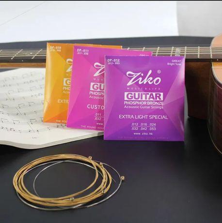 Фосфорно-бронзовые струны Ziko для акустической гитары