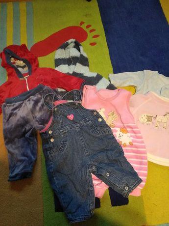 Ciepłe ubranka dla dziewczynki r 68