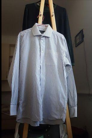 Женская новая рубашка в полоску блузка белая кофта на лето