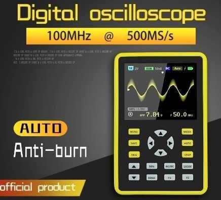 Osciloscópio FNIRSI-5012H digital.