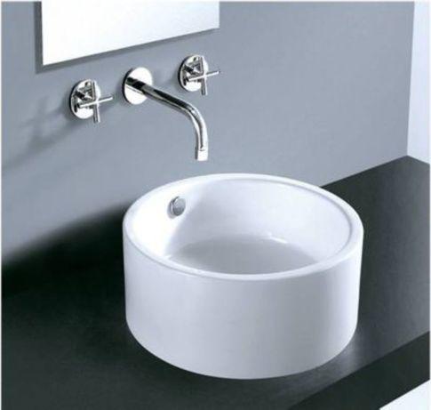 Nowa – umywalka nablatowa ceramiczna myBATH 4570 – okrągła, biała