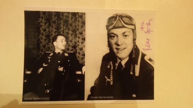 Peter Spoden autograf Luftwaffe nocny myśliwiec