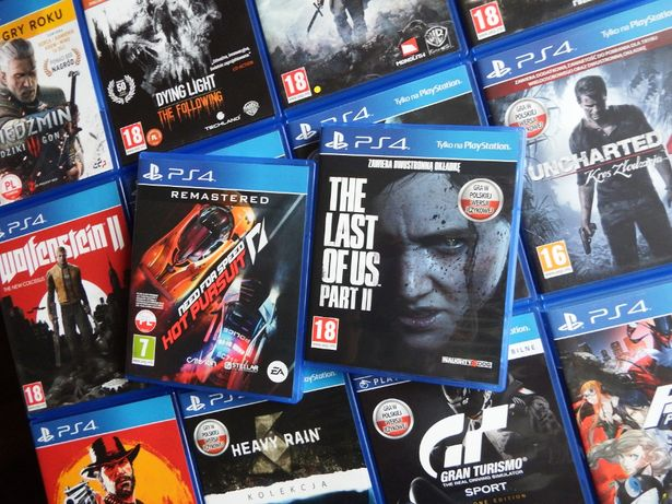 PS4 Last Of Us PART II NFS Hot Pursuit REMASTERED nowości HITY PS4 PS5