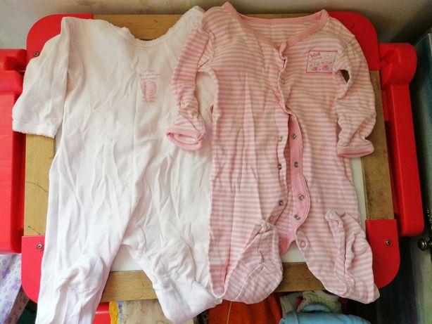 Пакет одежды от 3 до 6 мес для девочки припевочки. Бесплатно