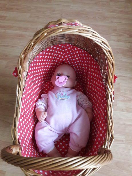 Wiklinowy wózek dla lalki