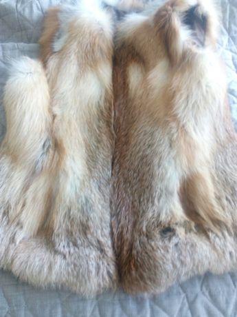 Жилетка меховая с лисы
