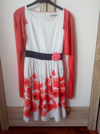 Sukienka 164cm w maki + BOLERKO