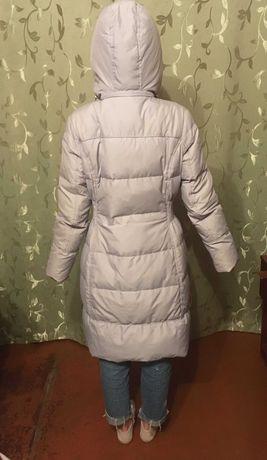 зимняя куртка женская длинная, пух