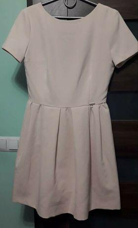 Sukienka z kokardą , elegancka, na okazje, wesele M
