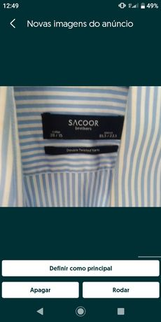 Camisa Sacoor e camisa Casa das Meias