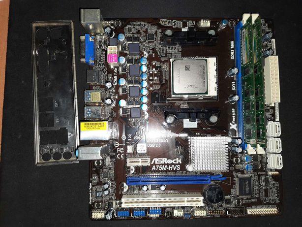 Комплект FM1 AS Rock A75M-HVS SATA3 USB3.0 +AMD A4-3300 + 4GbDDR3-1600