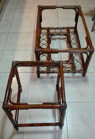 Conjunto de mesas em verga