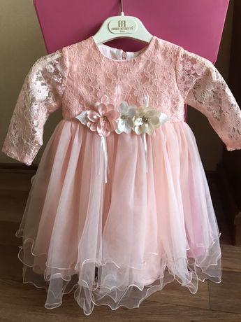 Нарядное платье на принцессу на годик,на два года