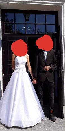 Suknia ślubna z ramiączkami